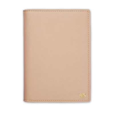 Nude - Saffiano Passport Cover | Personalise | TheImprint Singapore