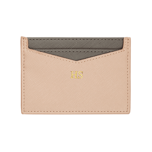 Nude - Saffiano Cardholder | Personalise | TheImprint Singapore
