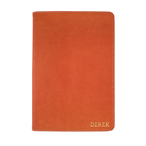 Orange - Saffiano Leather A5 Notebook | Personalise | TheImprint Singapore