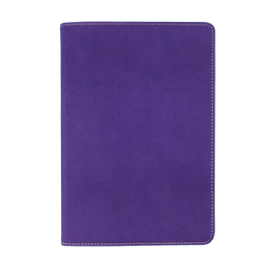 Purple - Saffiano Leather A5 Notebook | Personalise | TheImprint Singapore