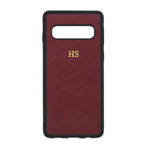 Burgundy - Samsung S10 Saffiano Phone Case | Personalise | TheImprint Singapore