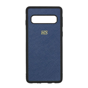 Navy - Samsung S10 Saffiano Phone Case | Personalise | TheImprint Singapore