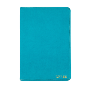 Turqouise - Saffiano Leather A5 Notebook | Personalise | TheImprint Singapore