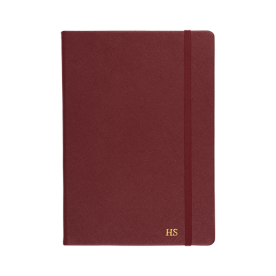 Burgundy - A5 Saffiano Notebook | Personalise | TheImprint Singapore
