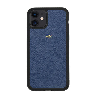 Navy iPhone 11 Saffiano Phone Case | Personalise | TheImprint Singapore