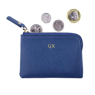 Navy - Saffiano Coin Pouch | Personalise | TheImprint Singapore