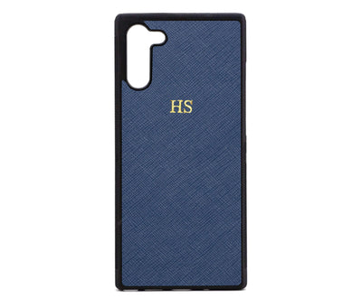 Navy Samsung Note 10 Saffiano Phone Case | Personalise | TheImprint Singapore