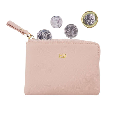 Nude - Saffiano Coin Pouch | Personalise | TheImprint Singapore