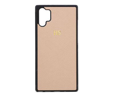 Nude Samsung Note 10 Plus Saffiano Phone Case | Personalise | TheImprint Singapore