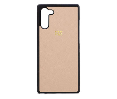Nude Samsung Note 10 Saffiano Phone Case | Personalise | TheImprint Singapore