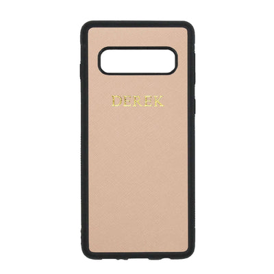 Nude -Samsung S10 Plus Saffiano Phone Case | Personalise | TheImprint Singapore