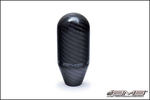 AMS (AMS.01.06.0106-1) 5 SPEED CARBON FIBER SHIFT KNOB; W/ LOGO - Performance Car Parts