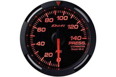 DEFI DF06602 Red Racer oil or fuel pressure gauge (PSI) 52mm - Performance Car Parts
