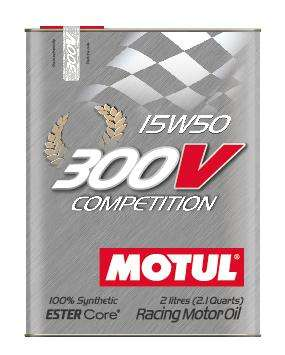 Motul ENGINE OIL 300V COMPETITION 15W50 2L - Performance Car Parts