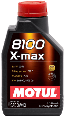 Motul ENGINE OIL 8100 X-MAX 0W40 1L - Performance Car Parts