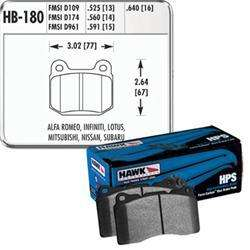 Hawk HPS Rear Brake Pads - Subaru STI / Mitsubishi Evo / 350Z / G35 - Performance Car Parts