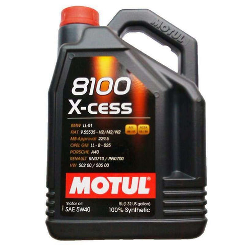 Motul ENGINE OIL 8100 X-CESS 5W40 5L - Performance Car Parts