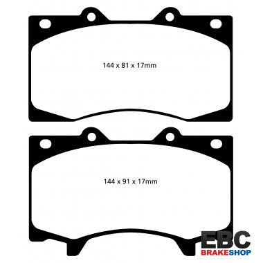 NISSAN Patrol 5.6 (Y62) EBC Front Ultimax Brake Pads DPX2125