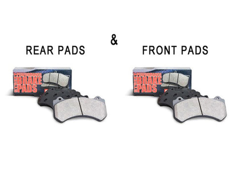 StopTech Street Performance FRONT & REAR Brake Pads for Infiniti G37 & Nissan 370Z Akebono
