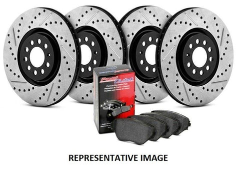 StopTech® 935.63014 - Street Drilled and Slotted Front and Rear Brake Kit