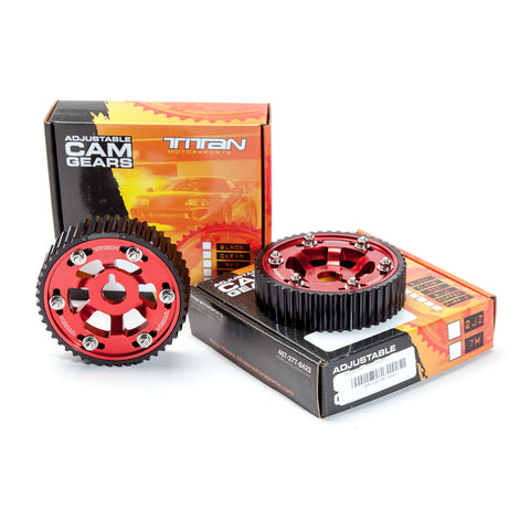 Titan Motorsports SUP-ENG-101R 2JZ / 2JZGTE Cam Gear Clear (each) RED