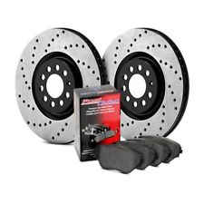 Street Pack - Drilled rotors front and rear with street brake pads and braided steel brake lines for nissan altima