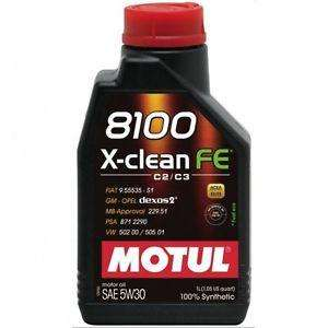 Motul ENGINE OIL 8100 X-CLEAN FE 5W30 1L - Performance Car Parts