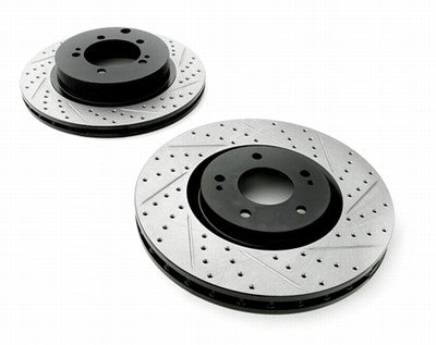 Stoptech Drilled & Slotted rotors for Genesis Coupe 3.8L Brembo calipers R spec - Performance Car Parts