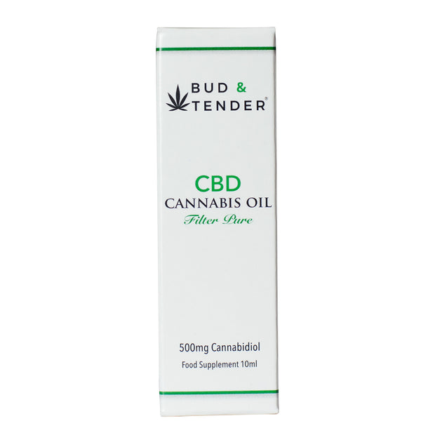 Bud & Tender CBD Oil 500mg 10ml SAVE £15 - 2 FOR £75