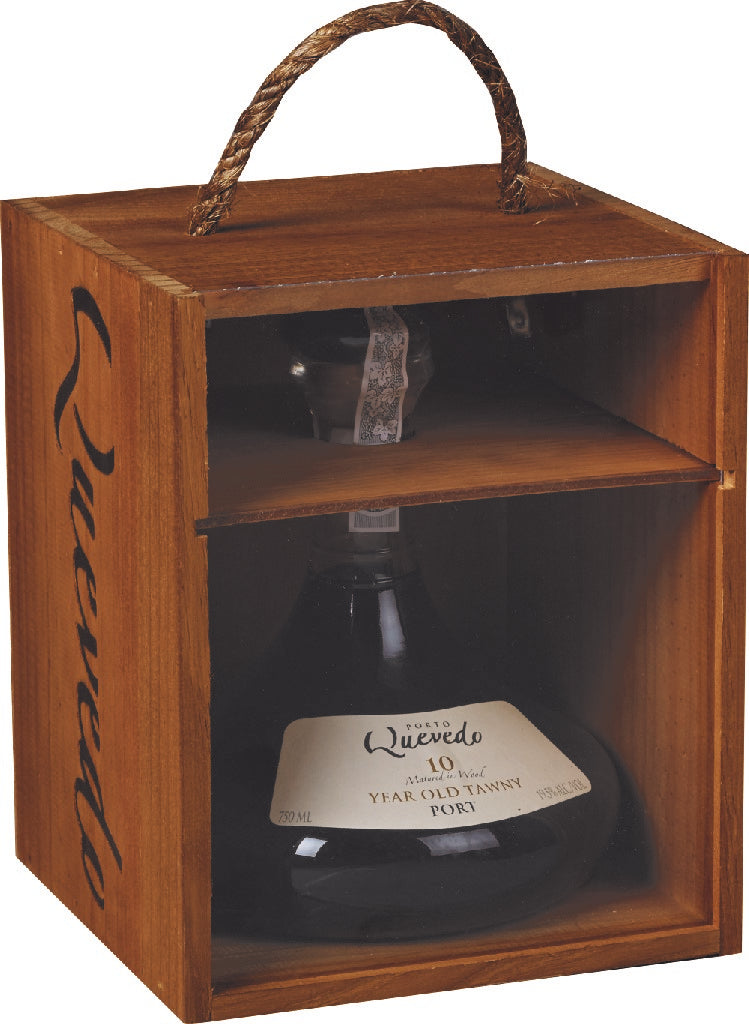 10 Year Old Tawny - Decanter in Wooden Box Gift Set, Quevedo Vineyards