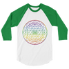 Aligning All Chakras: 3/4 sleeve raglan shirt