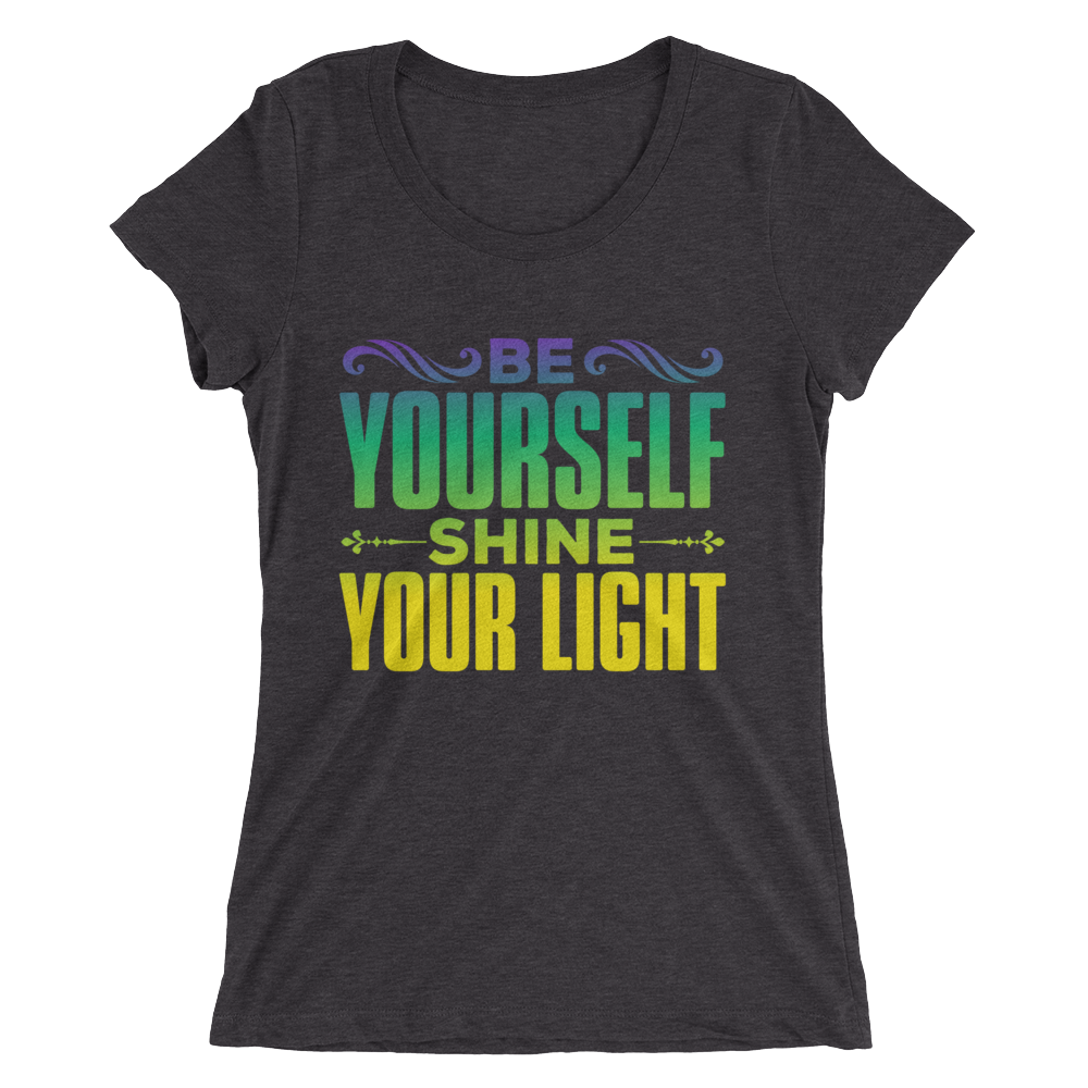 Shine Your Light: Ladies' short sleeve t-shirt