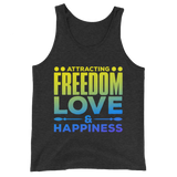 Attracting Freedom, Love & Happiness: Unisex Tank Top