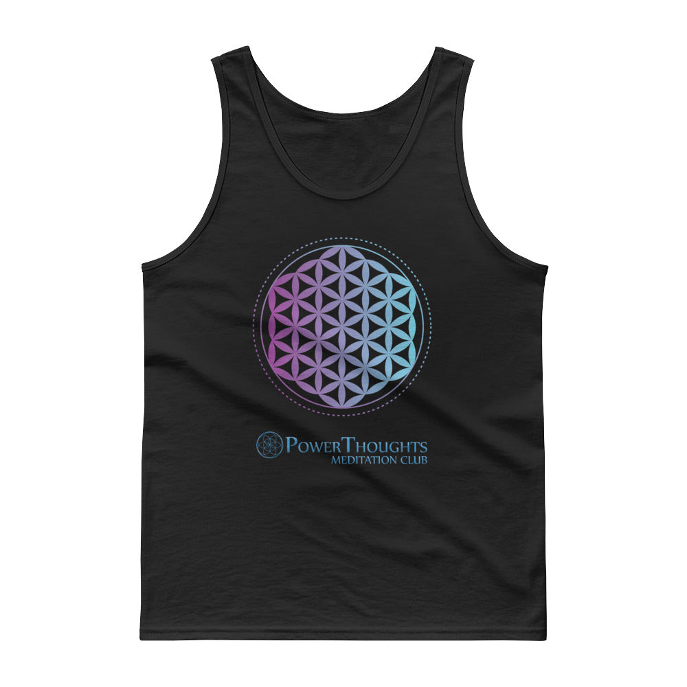 Sacred Geometry T-shirt | Remember Who You Are - PowerThoughts Meditation Club logo