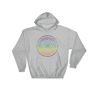 Aligning All Chakras: Hooded Sweatshirt