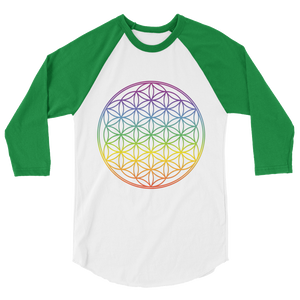 Flower of Life: 3/4 sleeve raglan shirt