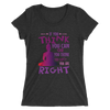 The Power Of Thoughts: Ladies' short sleeve t-shirt