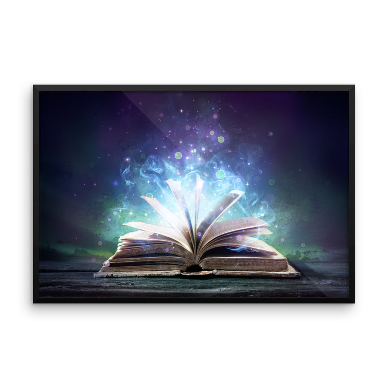 Book Of Wisdom Framed photo paper poster