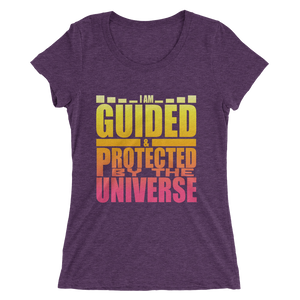 I Am Guided & Protected by The Universe: Ladies' short sleeve t-shirt