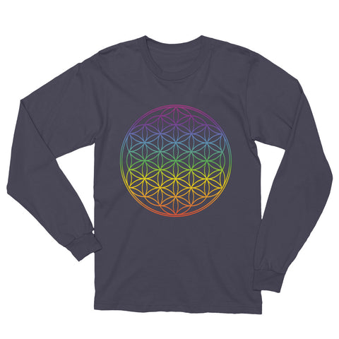 Rainbow Flow Of Life Unisex Long Sleeve T-Shirt