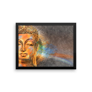 Awakening Buddha Framed photo paper poster