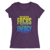 Where Focus Goes Energy Flows: Ladies' short sleeve t-shirt