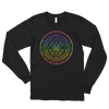 Aligning All Chakras: Long sleeve t-shirt (unisex)