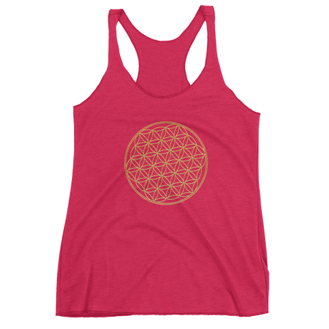 Flower Of Life: Women's Racerback Tank