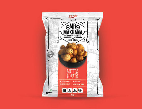 tomato makhana roasted healthy snacks Foxnuts