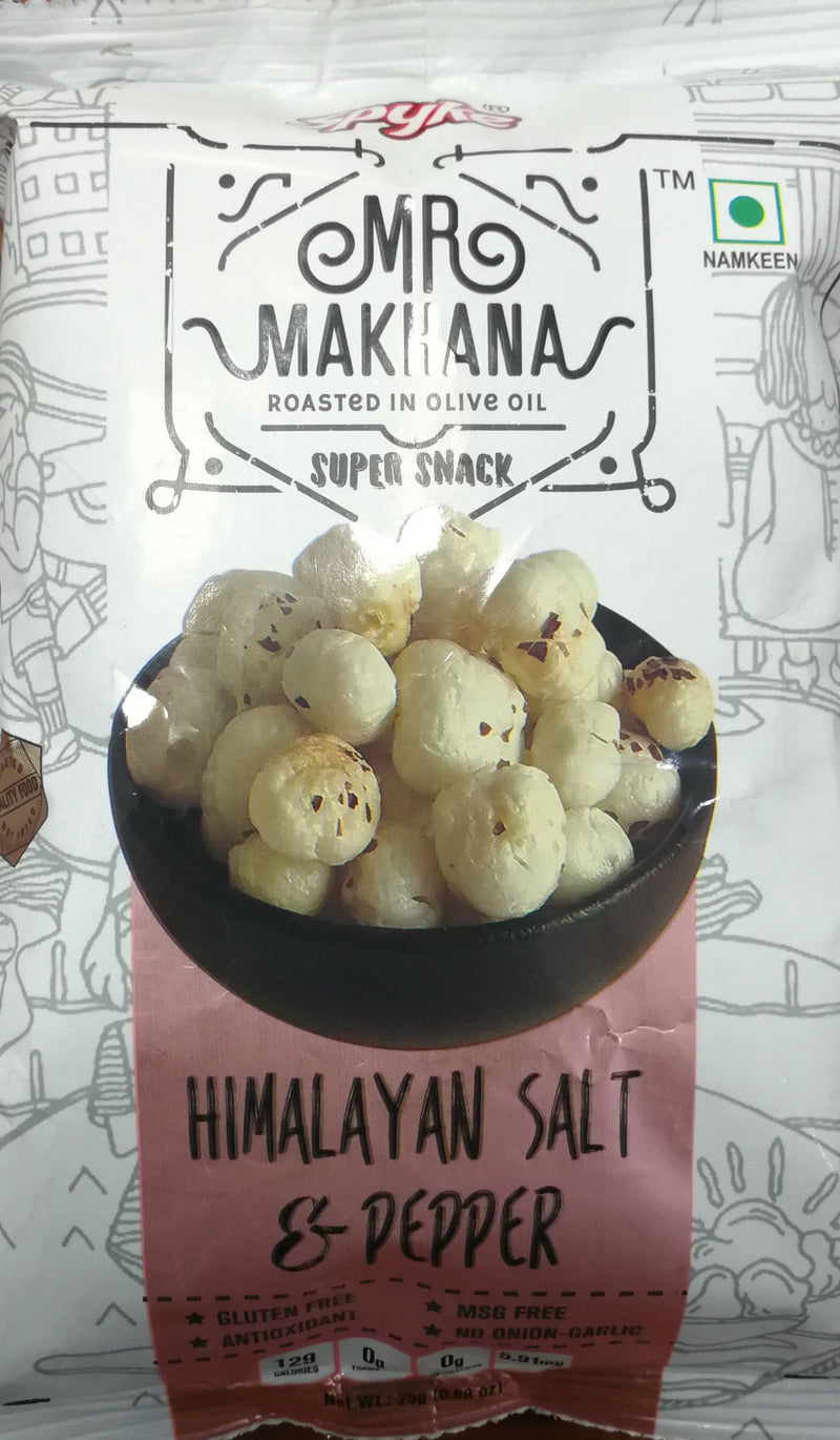 himalayan salt and pepper roasted makhana