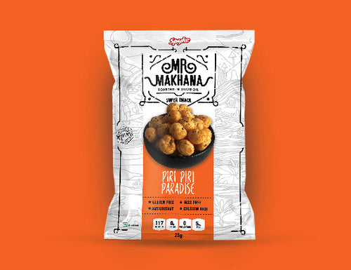 Peri Peri  Makhana (Pack of 6, 25 gms each)