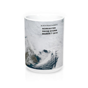 Joestradamus March 7 2018 Noreaster Mug 15oz