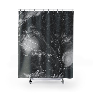 Hurricane Irma Hurricane Jose Shower Curtains