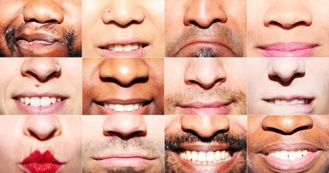 several pictures of the noses of different people